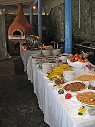 buffet breakfast each morning by the beach